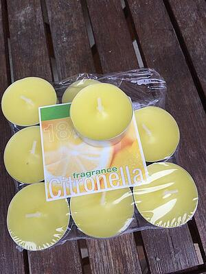 Citronella candles to get rid of mosquitoes