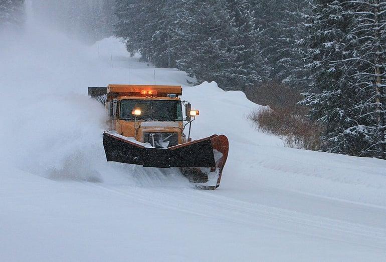 snow plow causing lawn damage