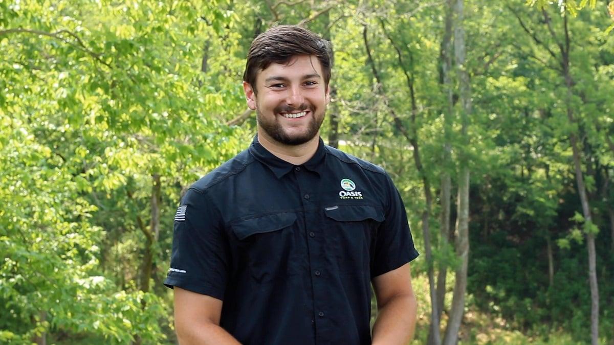 Dagan Stiles Oasis lawn care employee