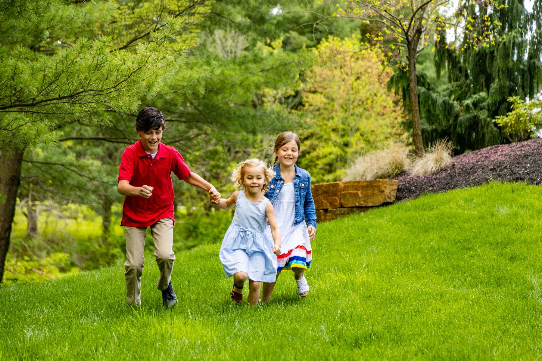 Customers children enjoying their lawn