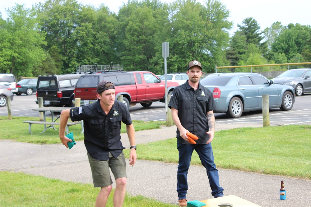 Oasis Team BBQ and corn hold tournament
