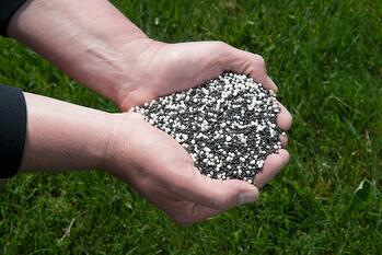 Granular lawn fertilizer