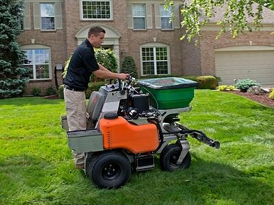 lawn application for lawn makeover