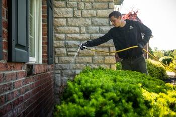 Oasis Turf & Tree perimeter pest control technician in Ohio