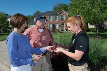 Tree and shrub professional providing plant health care
