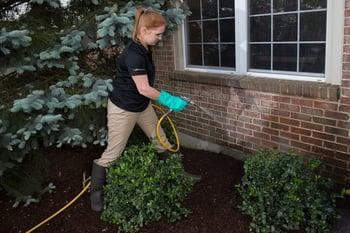 perimeter pest control spraying home in Ohio