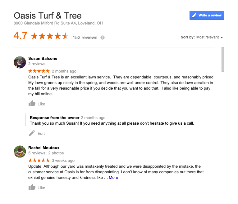 Oasis Turf and Tree Reviews 2019