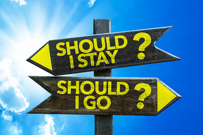 Signs saying should I stay or should I go