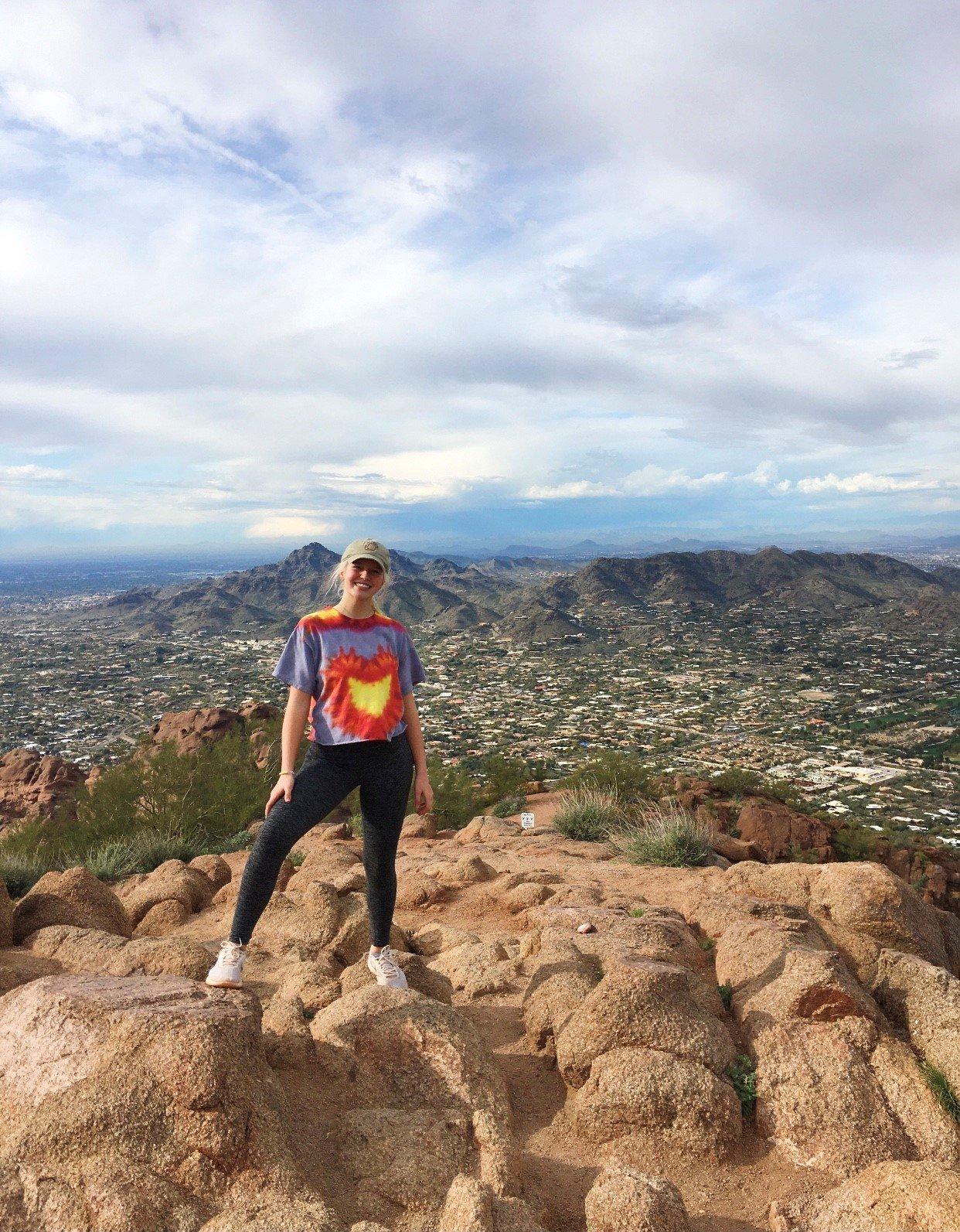 Taylor hiking