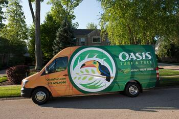 Oasis lawn care vehicle in Ohio